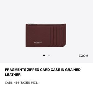 Saint Laurent card case  (large flap wallet)